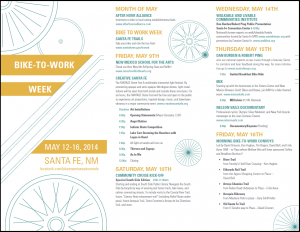Bike to work schedule Flyer