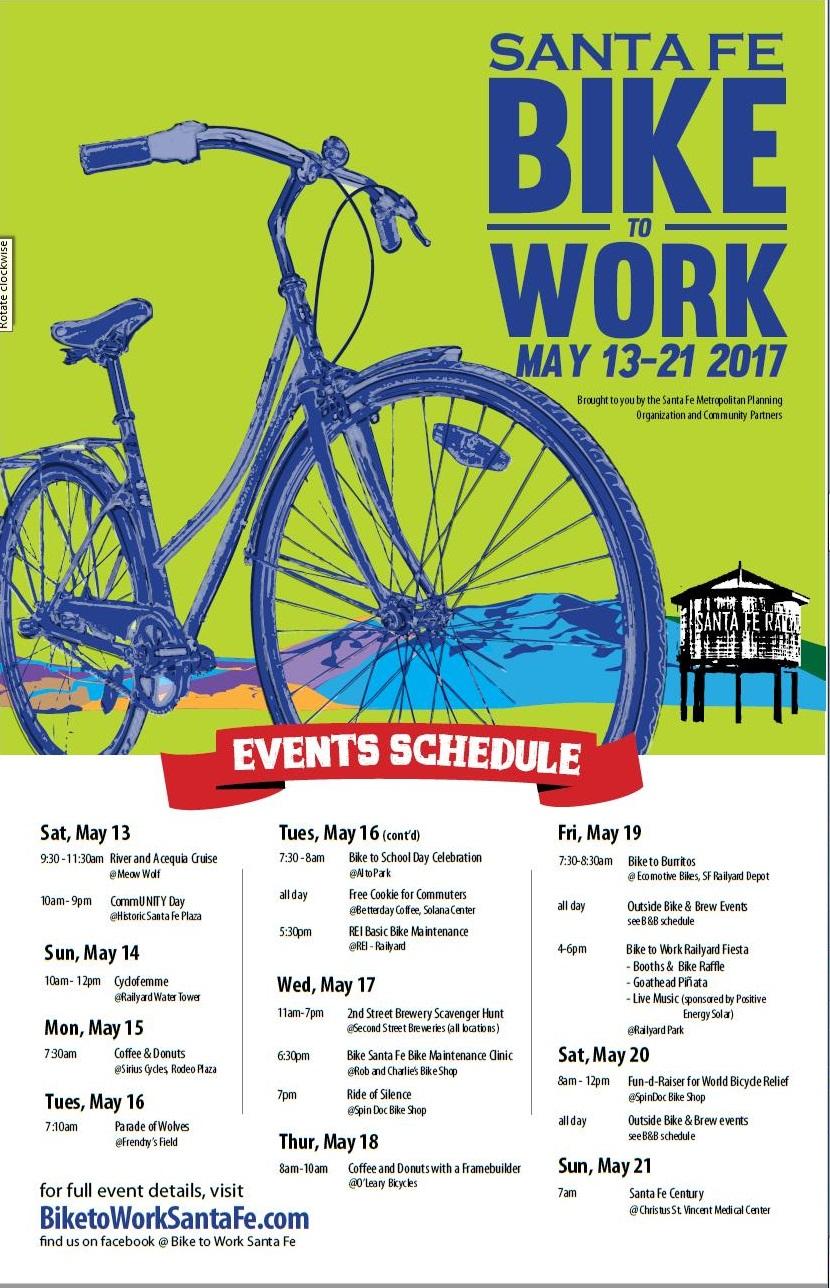 Santa Fe Mpo New Mexico Bike To Work Week 2017