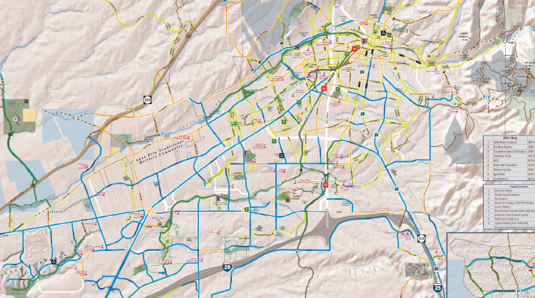 Santa Fe Bike and Trail Map