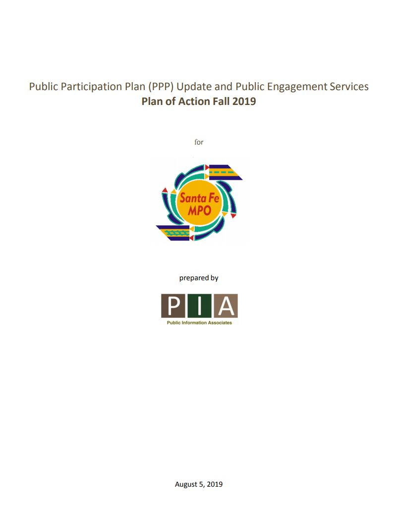 Front page of the Public Information Associates Plan of Action, 2019